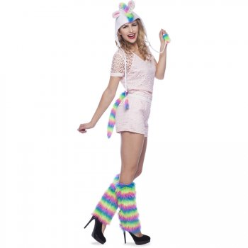 Set Bonnet et Queue Licorne Rainbow