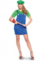 Déguisement Super Plombier Vert - Femme