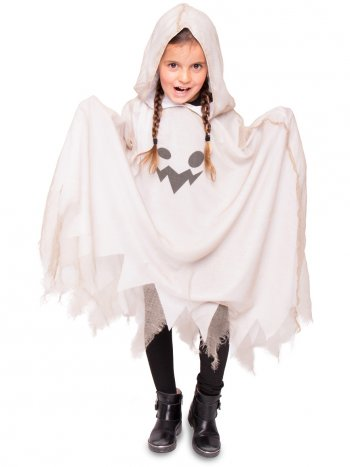 Poncho Fantôme Taille 4-9 ans