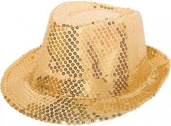 Chapeau Sequin Or
