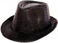 Chapeau Sequin Noir