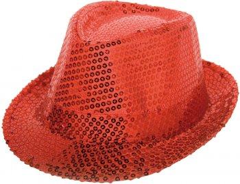 Chapeau Sequin Rouge