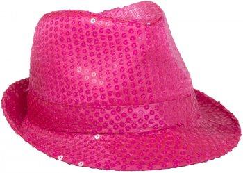 Chapeau Sequin Rose Fluo