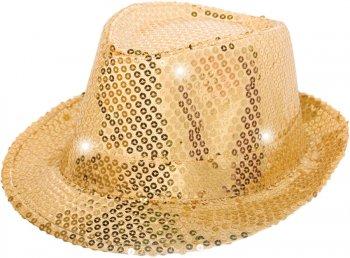 Chapeau Sequin Or Led