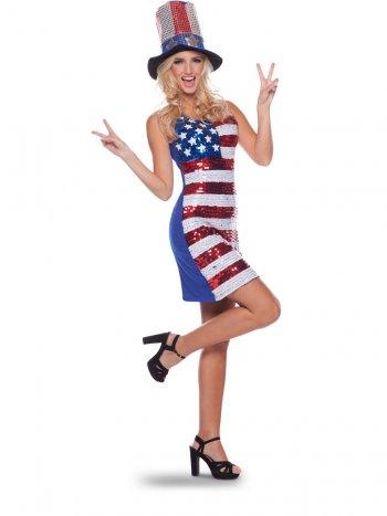 Robe - Drapeau Américain USA (Taille S-M)
