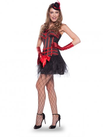 Déguisement Robe - Moulin Rouge (Taille S-M)