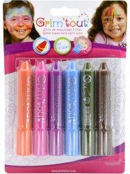 6 Sticks de Maquillage à l'eau
