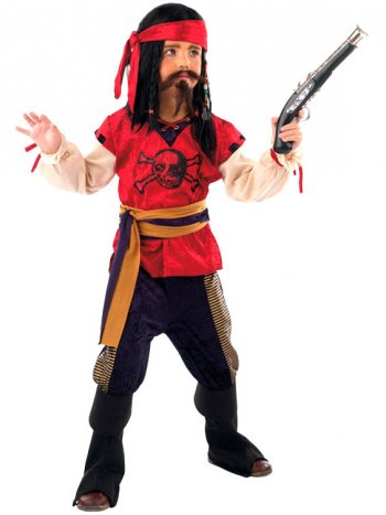 Déguisement de Pirate Rouge 5-7 ans