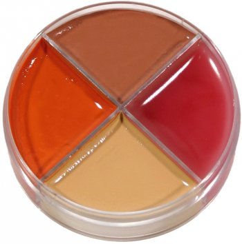 Crème maquillage 4 couleurs Brulure