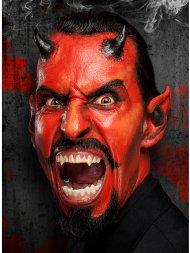 Maquillage latex Cornes de Diable