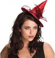 Mini Chapeau Sorcière Rouge