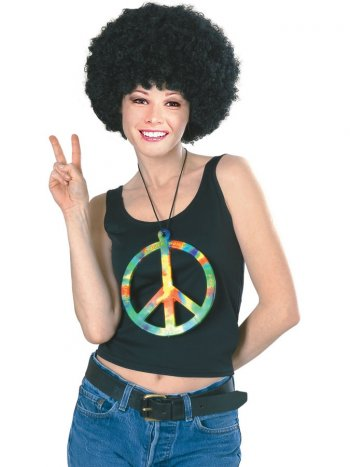 Collier Pendentif Hippie Peace Géant