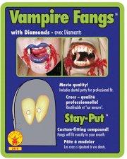 Crocs de vampire avec strass