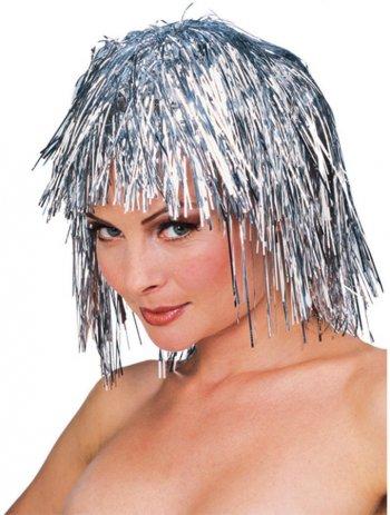 Perruque Disco Argent - Luxe