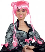 Perruque Princesse Manga Rose