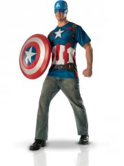 Set Tee Shirt et Masque Captain América