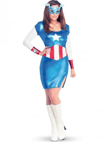 Déguisement Miss Captain America