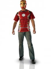 Set Tee shirt et Masque Iron Man Avengers