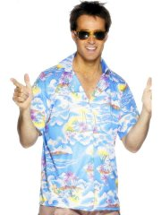 Chemise Hawaïenne bleue Taille L