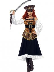 Déguisement de Pirate Girl Steampunk