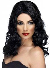 Perruque Reine du Glamour Noire