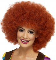 Perruque Afro Rousse