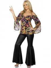 Déguisement Hippie pattes d'eph Femme 60's