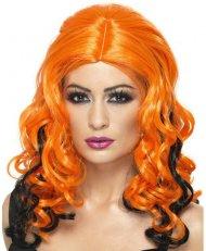 Perruque Gothique Orange à mèches noires