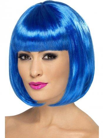 Perruque Crazy Color Bleue Electrique