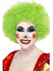 Perruque de clown verte