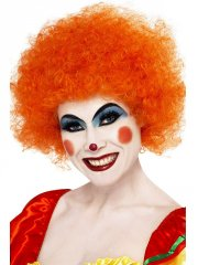 Perruque de clown orange