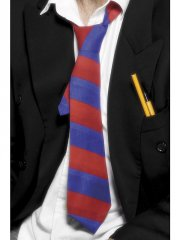 Cravate d'Etudiant Rouge et Bleue