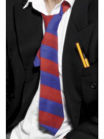 Cravate d Etudiant Rouge et Bleue