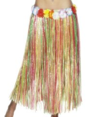 Jupe Hawaïenne longue à franges multicolores