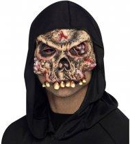 Masque mi-visage Zombie Squelette