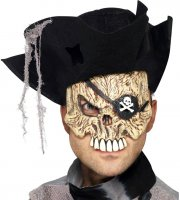 Masque mi-visage Pirate Squelette
