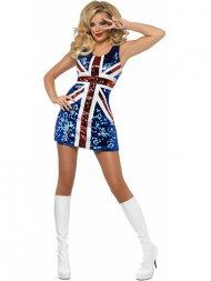 Déguisement de Miss England Strass