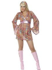 Déguisement 60's Hippie Hottie