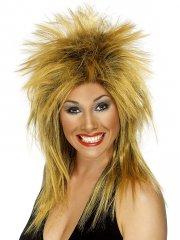 Perruque Diva du Rock rousse 80's
