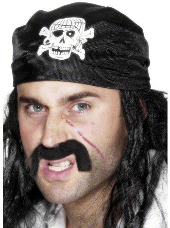 Bandana noir de Pirate