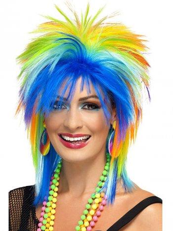 Perruque Punk Rainbow 80 s