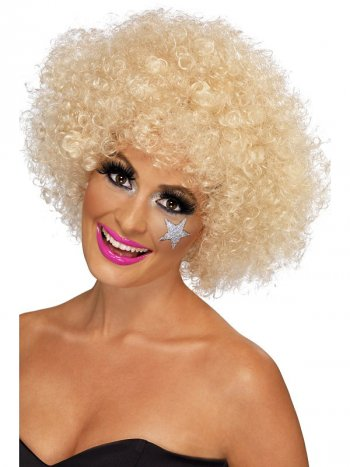 Perruque Afro funky blonde 70 s