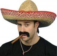 Chapeau Sombrero Mexicain Bords Rouges