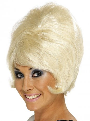 Perruque 60 s Choucroute Blonde