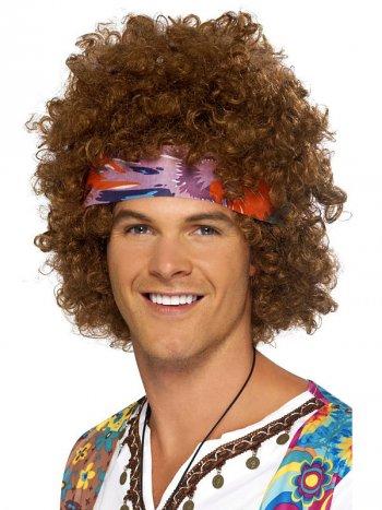 Perruque Hippie Afro Brune 60 s