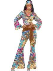 Déguisement 60's Hippie Flower Power Femme