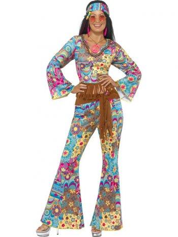 Déguisement 60 s Hippie Flower Power Femme