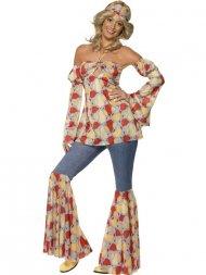 Déguisement 70's de Hippie Disco Femme