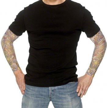 Manches de bras tatoués