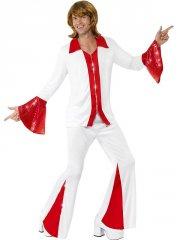 Déguisement Disco rouge homme 70's